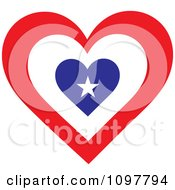 Clipart Patriotic Flag Heart With An American Design Royalty Free Vector Illustration