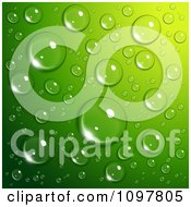 Clipart Background Of Reflective Water Droplets On Green Royalty Free Vector Illustration