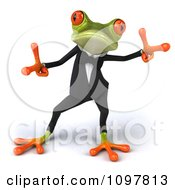 Clipart 3d Business Springer Frog Doing A Happy Dance 2 Royalty Free CGI Illustration