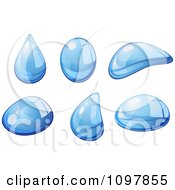Clipart Reflective Blue Water Droplets 2 Royalty Free Vector Illustration by Vector Tradition SM