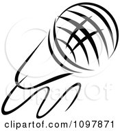 Clipart Black And White Singers Microphone 1 Royalty Free Vector Illustration