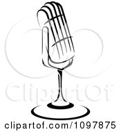Clipart Black And White Retro Radio Desk Microphone 2 Royalty Free Vector Illustration by Vector Tradition SM