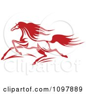 Clipart Fast Red Horse Running 1 Royalty Free Vector Illustration