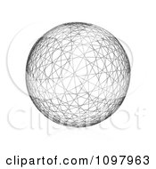 Clipart 3d Wire Frame Sphere Royalty Free Vector Illustration