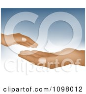 Clipart Child Hand Over An Adult Hand Royalty Free Vector Illustration