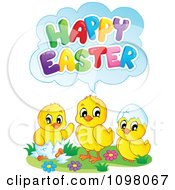 Cute Chicks Saying Happy Easter