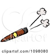 Clipart Smoking Cigar Royalty Free Vector Illustration