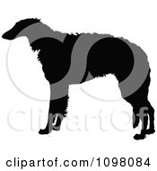 Clipart Silhouetted Borzoi Dog In Profile Royalty Free Vector Illustration by Maria Bell