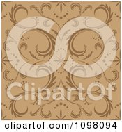 Clipart Seamless Brown And Tan Floral Pattern Royalty Free Vector Illustration