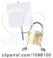 Clipart 3d Golden Padlock With A Sign 10 Royalty Free CGI Illustration
