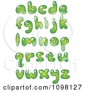 Clipart Green Bubble Ecology Lowercase Letters Royalty Free Vector Illustration