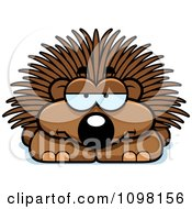 Clipart Bored Porcupine Royalty Free Vector Illustration by Cory Thoman