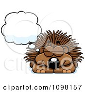 Clipart Dreaming Porcupine Royalty Free Vector Illustration by Cory Thoman