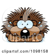 Clipart Scared Porcupine Royalty Free Vector Illustration by Cory Thoman