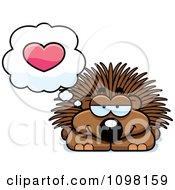 Clipart Porcupine In Love Royalty Free Vector Illustration by Cory Thoman