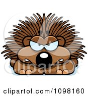 Clipart Angry Porcupine Royalty Free Vector Illustration by Cory Thoman