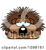 Clipart Depressed Porcupine Royalty Free Vector Illustration by Cory Thoman
