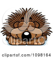 Clipart Sleeping Porcupine Royalty Free Vector Illustration by Cory Thoman