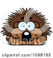 Clipart Happy Porcupine Royalty Free Vector Illustration