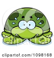Clipart Scared Green Sea Turtle Royalty Free Vector Illustration by Cory Thoman