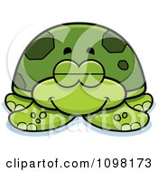 Clipart Sleeping Green Sea Turtle Royalty Free Vector Illustration by Cory Thoman