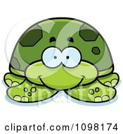 Clipart Happy Green Sea Turtle Royalty Free Vector Illustration