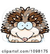 Clipart Happy Hedgehog Royalty Free Vector Illustration by Cory Thoman