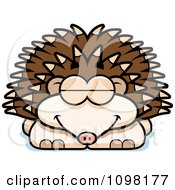 Clipart Sleeping Hedgehog Royalty Free Vector Illustration by Cory Thoman