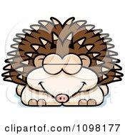 Clipart Sleeping Hedgehog Royalty Free Vector Illustration