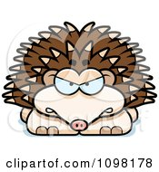 Clipart Angry Hedgehog Royalty Free Vector Illustration by Cory Thoman