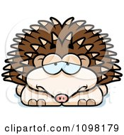 Clipart Depressed Hedgehog Royalty Free Vector Illustration by Cory Thoman