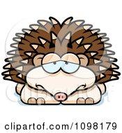 Clipart Depressed Hedgehog Royalty Free Vector Illustration