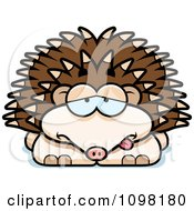 Clipart Sick Hedgehog Royalty Free Vector Illustration by Cory Thoman