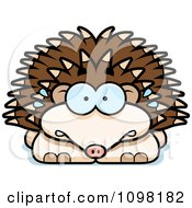 Clipart Scared Hedgehog Royalty Free Vector Illustration by Cory Thoman