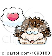 Clipart Hedgehog In Love Royalty Free Vector Illustration by Cory Thoman