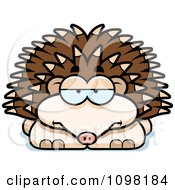 Clipart Bored Hedgehog Royalty Free Vector Illustration by Cory Thoman