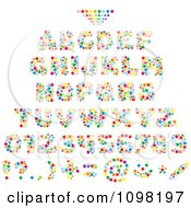 Colorful Bubble Capital Letters Numbers And Punctuation Design Elements