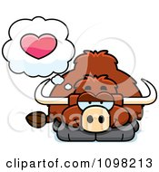 Clipart Yak In Love Royalty Free Vector Illustration