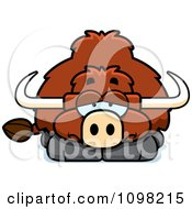 Clipart Depressed Yak Royalty Free Vector Illustration