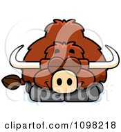 Clipart Sleeping Yak Royalty Free Vector Illustration