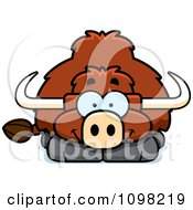 Clipart Happy Yak Royalty Free Vector Illustration