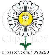 Clipart Surprised White Daisy Flower Character Royalty Free Vector Illustration by Cory Thoman