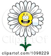 Clipart Talking White Daisy Flower Character Royalty Free Vector Illustration by Cory Thoman