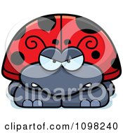 Clipart Angry Ladybug Royalty Free Vector Illustration