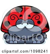Clipart Depressed Ladybug Royalty Free Vector Illustration