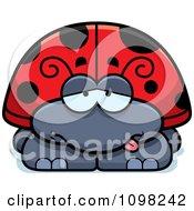 Clipart Sick Ladybug Royalty Free Vector Illustration