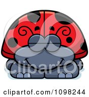Clipart Sleeping Ladybug Royalty Free Vector Illustration by Cory Thoman