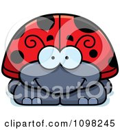Clipart Happy Ladybug Royalty Free Vector Illustration