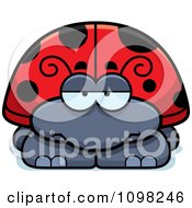 Clipart Bored Ladybug Royalty Free Vector Illustration by Cory Thoman