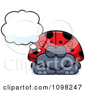 Clipart Dreaming Ladybug Royalty Free Vector Illustration by Cory Thoman